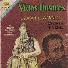 Tebeos: VIDAS ILUSTRES : NUMERO 185 MIGUEL ANGEL , EDITORIAL NOVARO. Lote 211852336