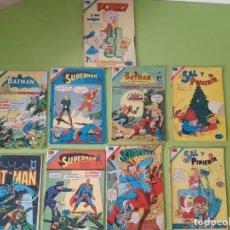 Tebeos: LOTE DE 9 CÓMICS DE NOVARO DE BATMAN, SUPERMAN, SAL Y PIMIENTA Y PORKY. Lote 212650648