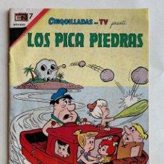 Tebeos: LOS PICA PIEDRAS . HANNA - BARRERA .CHIQUILLADAS T V NOVARO . COMIC ORIGINAL COLOR .. Lote 213414307