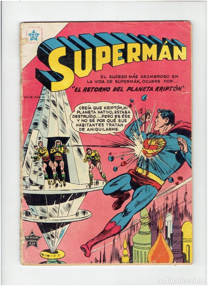 * COMIC ORIGINAL SUPERMAN Nº 41 * EDITORIAL NOVARO 1954 * (Tebeos y Comics - Novaro - Superman)