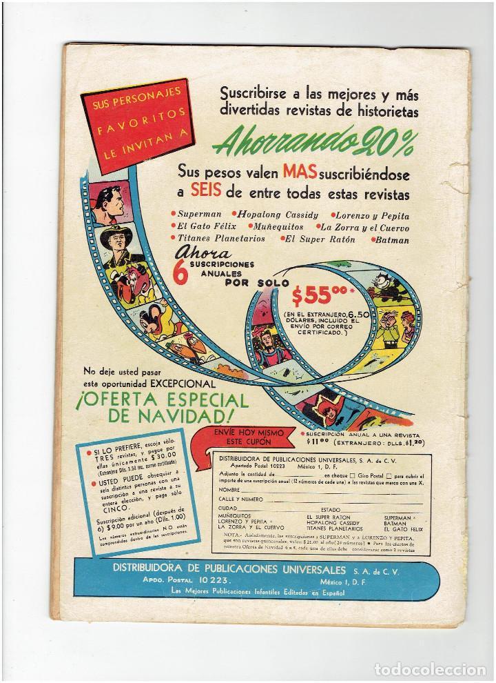 Tebeos: * COMIC ORIGINAL SUPERMAN Nº 41 * EDITORIAL NOVARO 1954 * - Foto 3 - 213442882