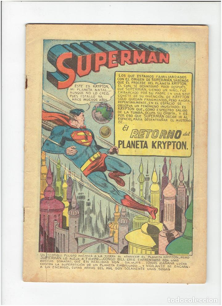 Tebeos: * COMIC ORIGINAL SUPERMAN Nº 41 * EDITORIAL NOVARO 1954 * - Foto 2 - 213442882