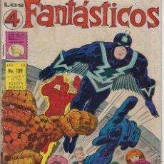 Tebeos: LOS 4 FANTÁSTICOS - MARVEL - AÑO VII - Nº 109 - OCT. 31 DE 1969 *** EDITORIAL LA PRENSA MÉXICO ***. Lote 213598550