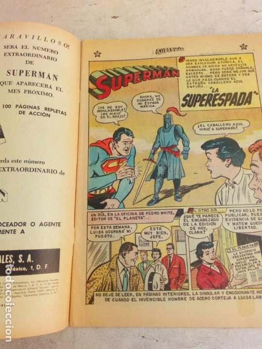Tebeos: Superman Novaro Nº 201 Excelente Estado - Foto 3 - 214040335