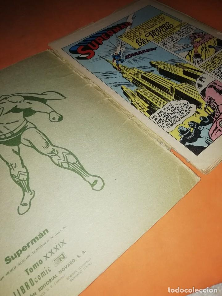 Tebeos: SUPERMAN. LIBRO COMIC . TOMO XXXIX . EDITORIAL NOVARO 1974 - Foto 3 - 214256052