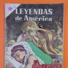 Tebeos: LEYENDAS DE AMERICA - Nº50 - EL GUEGUE Y LOS NIÑOS - NOVARO - AÑO 1960 ...L1821. Lote 214706000