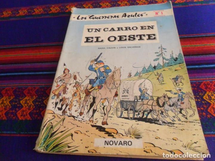 LOS GUERRERAS AZULES Nº 1 UN CARRO EN EL OESTE. NOVARO 1978. 150 PTS. RÚSTICA. (Tebeos y Comics - Novaro - Otros)