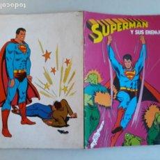 Tebeos: SUPERMAN Y SUS ENEMIGOS CUADERNO PARA COLOREAR FHER AÑO 1979 SIN PINTAR. Lote 214950418