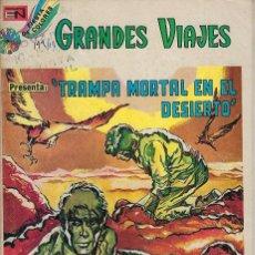 Tebeos: GRANDES VIAJES: LA TRAMPA MORTAL EN EL... AÑO XII - Nº 149 - FEB. 18 DE 1974 ***EDITORIAL NOVARO***. Lote 214987725