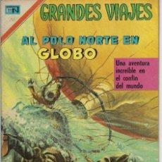 Tebeos: GRANDES VIAJES:AL POLO NORTE EN GLOBO - AÑO VIII - Nº 90 - JULIO 1 DE 1970 ** EDITORIAL NOVARO **. Lote 214991887