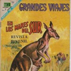 Livros de Banda Desenhada: GRANDES VIAJES: EN LOS MARES DEL SUR - AÑO VI - Nº 70 - NOV. 1º DE 1968 *** EDITORIAL NOVARO ***. Lote 215237402