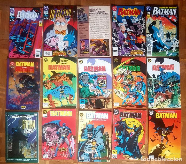 LOTE COMICS BATMAN 90S GOTHAM LUZ DE GAS ORIGINALES BATMAN VS PREDATOR ALAN GRANT,JIM APARO (Tebeos y Comics - Novaro - Batman)