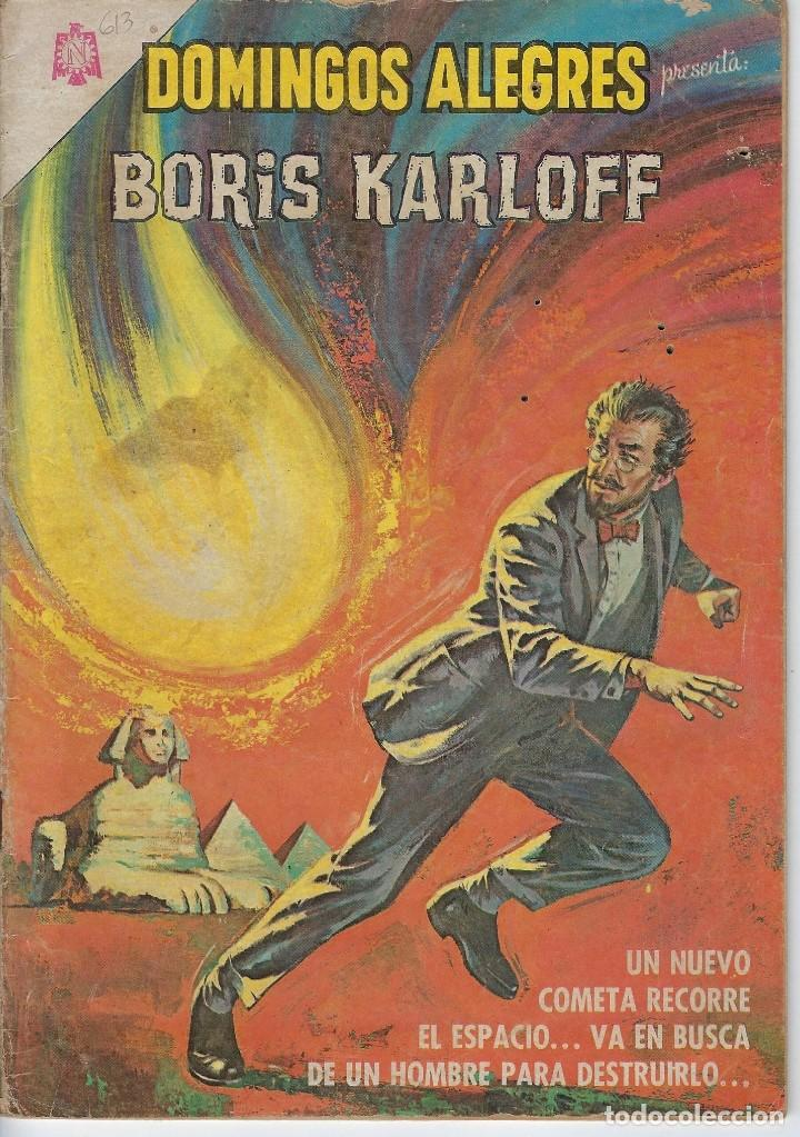 DOMINGOS ALEGRES: BORIS KARLOFF - AÑO XII - Nº 613 - DIC. 26 DE 1965 ** EDITORIAL NOVARO ** (Tebeos y Comics - Novaro - Domingos Alegres)