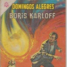 Tebeos: DOMINGOS ALEGRES: BORIS KARLOFF - AÑO XII - Nº 613 - DIC. 26 DE 1965 ** EDITORIAL NOVARO **. Lote 216493033