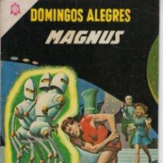 Tebeos: DOMINGOS ALEGRES: MAGNUS - AÑO XII - Nº 607 - NOV. 14 DE 1965 ** EDITORIAL NOVARO **. Lote 216493402