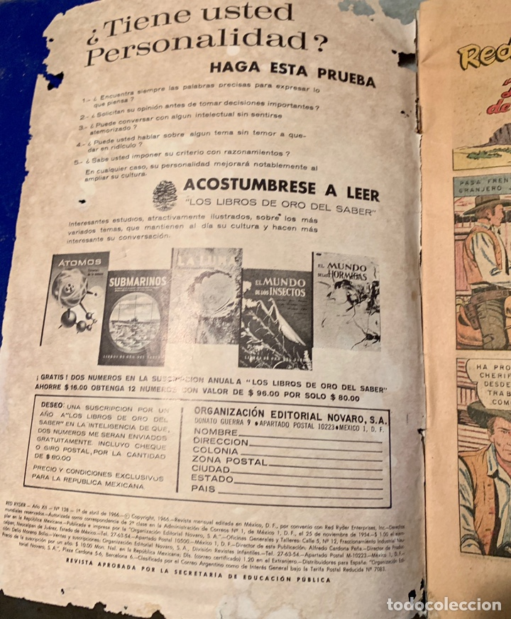 Tebeos: Red ryder numero 138 abril 1966 - Foto 3 - 217278256