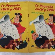 Tebeos: LA PEQUEÑA LULU Y TOBI LIBRO PARA COLOREAR NOVARO AÑO 1970 SIN PINTAR. Lote 217384502