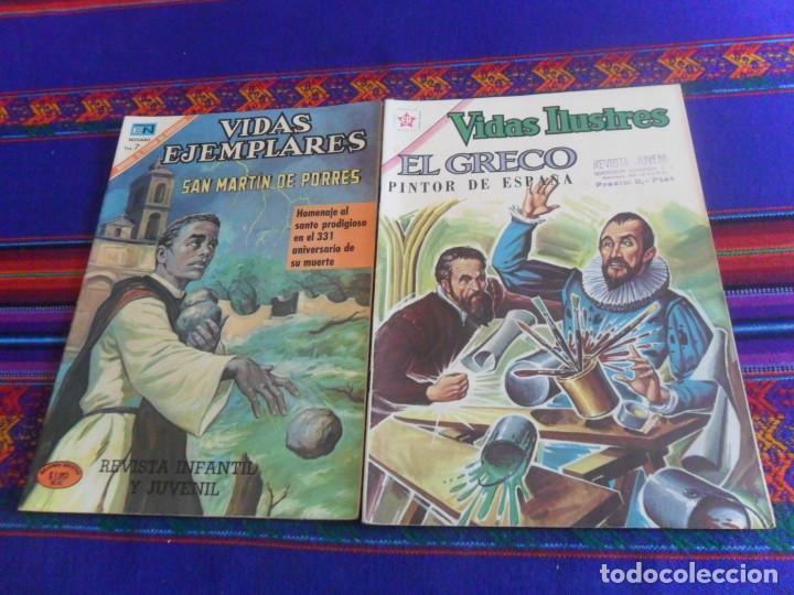 VIDAS ILUSTRES Nº 78 EL GRECO PINTOR DE ESPAÑA. NOVARO 1962. REGALO EJEMPLARES 327 SAN MARTÍN PORRES (Tebeos y Comics - Novaro - Vidas ilustres)