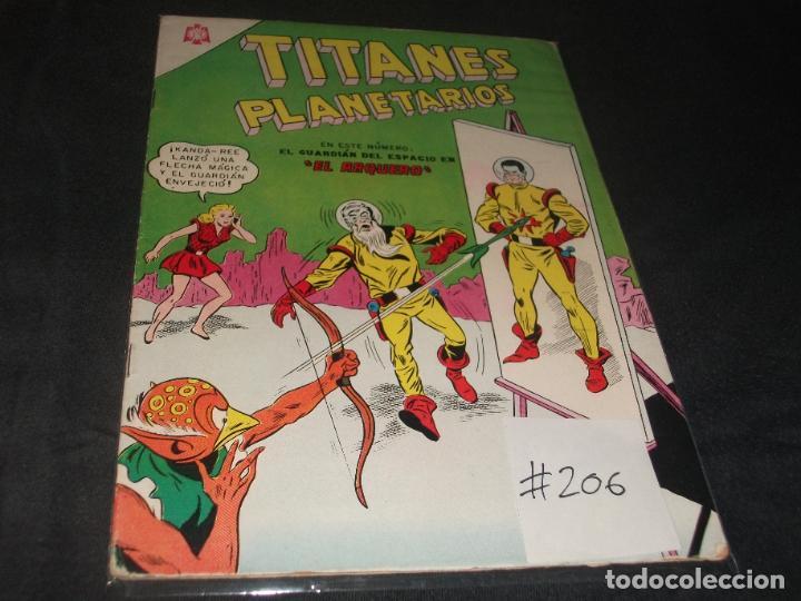 TITANES PLANETARIOS # 206 MUY BUEN ESTADO (Tebeos y Comics - Novaro - Sci-Fi)