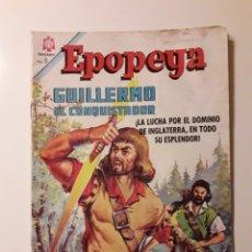 Tebeos: EPOPEYA NUM 93 (1966). GUILLERMO EL CONQUISTADOR. ED NOVARO. Lote 217645521