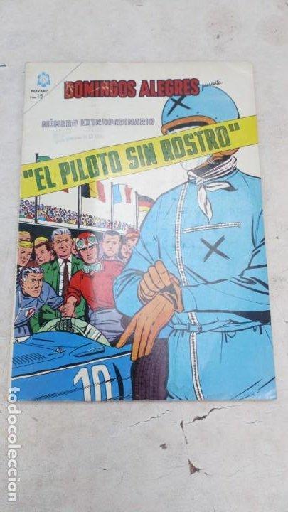DOMINGOS ALEGRES EL PILOTO SIN ROSTRO 1 NOVIEMBRE 1964 NOVARO MUY BUEN ESTADO (Tebeos y Comics - Novaro - Domingos Alegres)