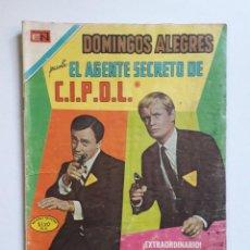 Tebeos: DOMINGOS ALEGRES Nº 839 - EL AGENTE SECRETO DE C.I.P.O.L. - ORIGINAL EDITORIAL NOVARO. Lote 218368375