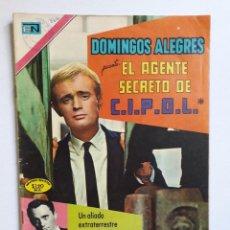 Giornalini: DOMINGOS ALEGRES Nº 866 - EL AGENTE SECRETO DE C.I.P.O.L. - ORIGINAL EDITORIAL NOVARO. Lote 218369052