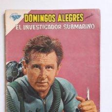 Tebeos: DOMINGOS ALEGRES Nº 392 - EL INVESTIGADOR SUBMARINO - ORIGINAL EDITORIAL NOVARO. Lote 218370006