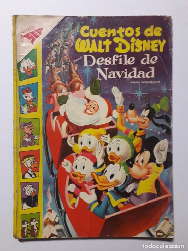 CUENTOS DE WALT DISNEY EXTRAORDINARIO DESFILE DE NAVIDAD AÑO 1957 - ORIGINAL EDITORIAL NOVARO (Tebeos y Comics - Novaro - Otros)
