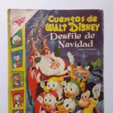 BDs: CUENTOS DE WALT DISNEY EXTRAORDINARIO DESFILE DE NAVIDAD AÑO 1957 - ORIGINAL EDITORIAL NOVARO. Lote 219133388
