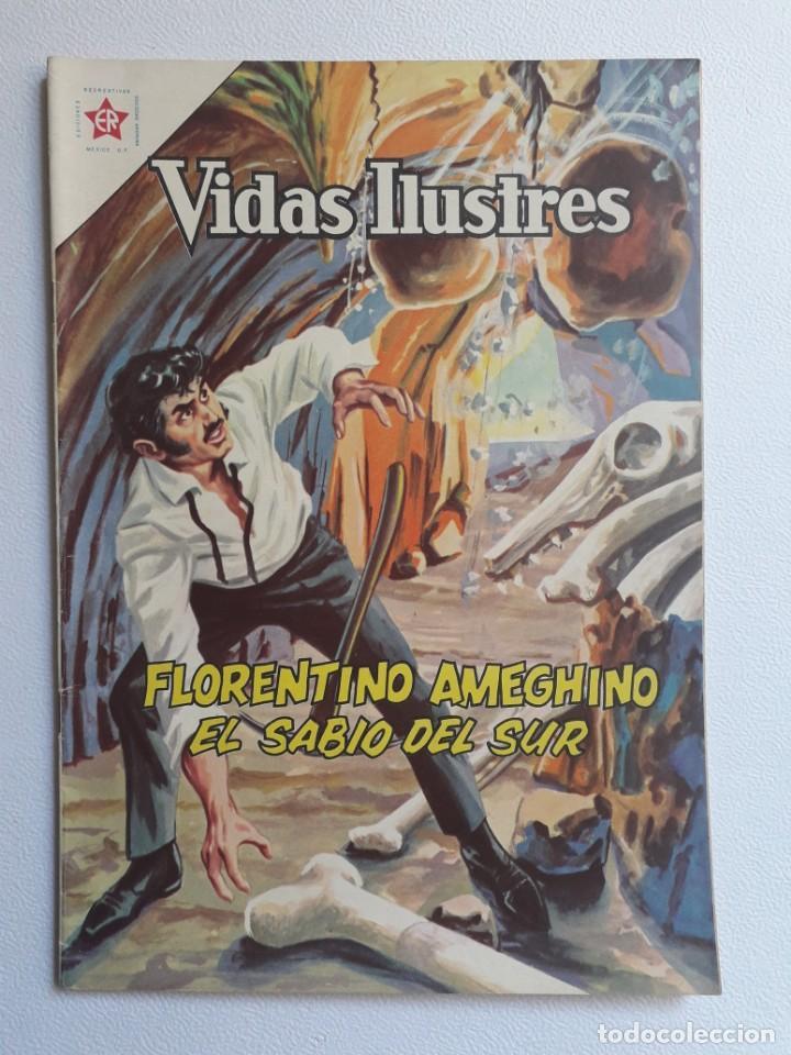 VIDAS ILUSTRES Nº 81 - FLORENTINO AMEGHINO EL SABIO DEL SUR - ORIGINAL EDITORIAL NOVARO (Tebeos y Comics - Novaro - Vidas ejemplares)