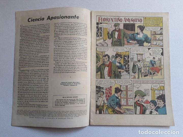 Tebeos: Vidas ilustres nº 81 - Florentino Ameghino el sabio del sur - original editorial Novaro - Foto 2 - 219388315