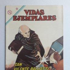 Tebeos: VIDAS EJEMPLARES Nº 166 - SAN VICENTE PALLOTTI - ORIGINAL EDITORIAL NOVARO. Lote 219389233