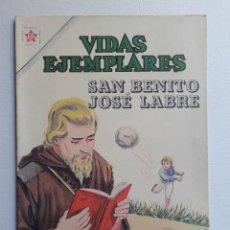 Tebeos: VIDAS EJEMPLARES Nº 154 - SAN BENITO JOSÉ LABRÉ - ORIGINAL EDITORIAL NOVARO. Lote 219389841