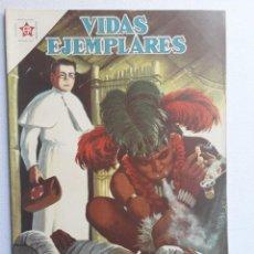 Tebeos: VIDAS EJEMPLARES Nº 143 - EL PADRE DAMIÁN APÓSTOL DE LOS LEPROSOS - ORIGINAL EDITORIAL NOVARO. Lote 219389995