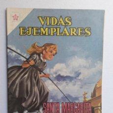 Tebeos: VIDAS EJEMPLARES Nº 109 - SANTA MARGARITA MA. ALACOQUE - ORIGINAL EDITORIAL NOVARO. Lote 219470510