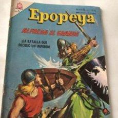 Tebeos: EPOPEYA- ALFREDO EL GRANDE- NUM.90- 1965. Lote 219501345