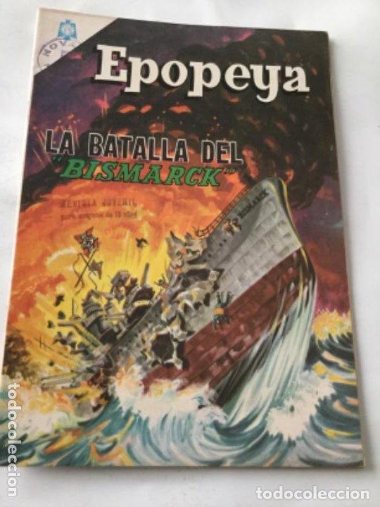 EPOPEYA- LA BATALLA DEL BISMARCK - NUM.89- 1965 (Tebeos y Comics - Novaro - Epopeya)