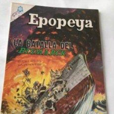 Tebeos: EPOPEYA- LA BATALLA DEL BISMARCK - NUM.89- 1965. Lote 219501423