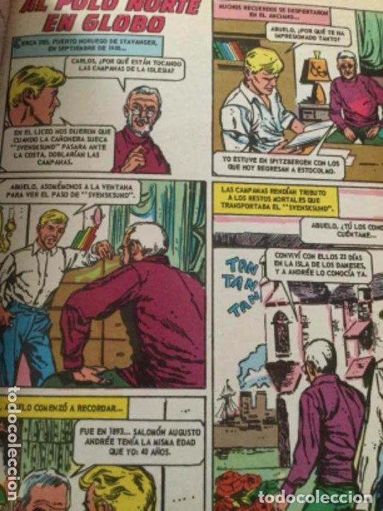 Tebeos: Grandes viajes-libro 64 páginas-la conquista del himalaya y al polo norte en globo- 1973 - Foto 4 - 219505155