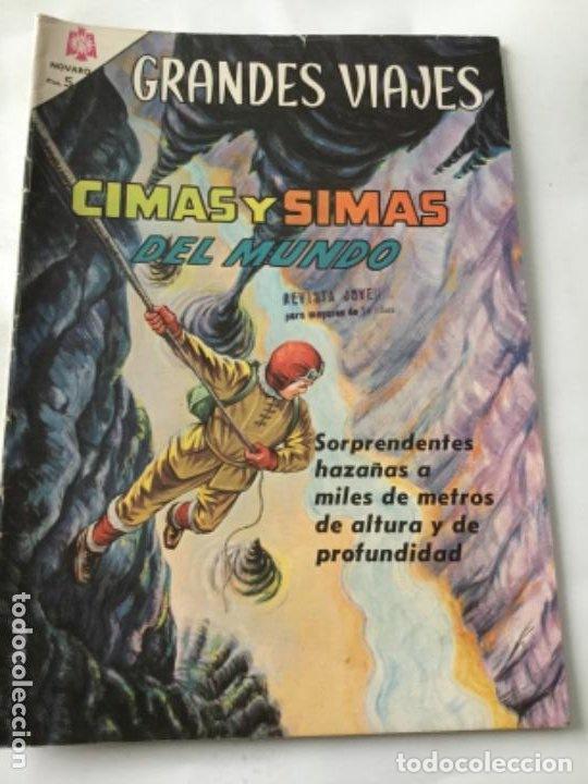 GRANDES VIAJES- CIMAS Y SIMAS DEL MUNDO- NUM.31- 1965 (Tebeos y Comics - Novaro - Grandes Viajes)