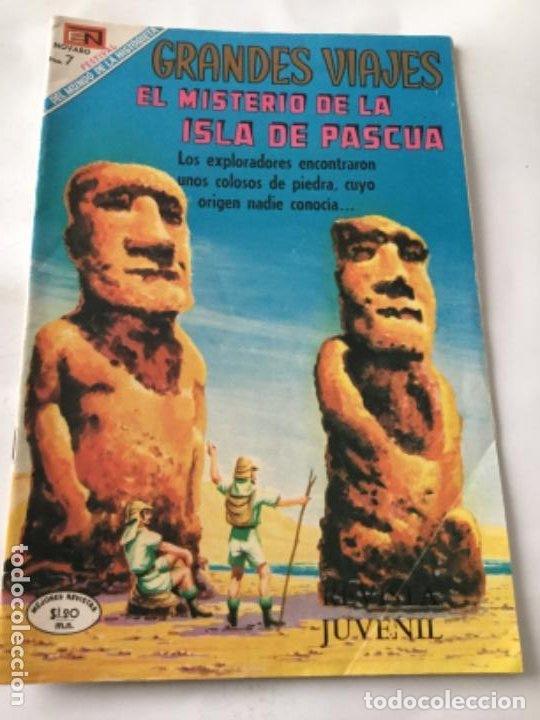 GRANDES VIAJES- EL MISTERIO DE LA ISLA DE PASCUA- NUM.79- 1969 (Tebeos y Comics - Novaro - Grandes Viajes)
