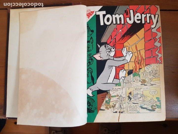 Tebeos: 12 TEBEO/CÓMIC TOMO ORIGINAL TOM Y JERRY CLÁSICOS ILUSTRADA 1 CINE ALMANAQUE NICOLÁS NOVARO SEA 1954 - Foto 4 - 219534305
