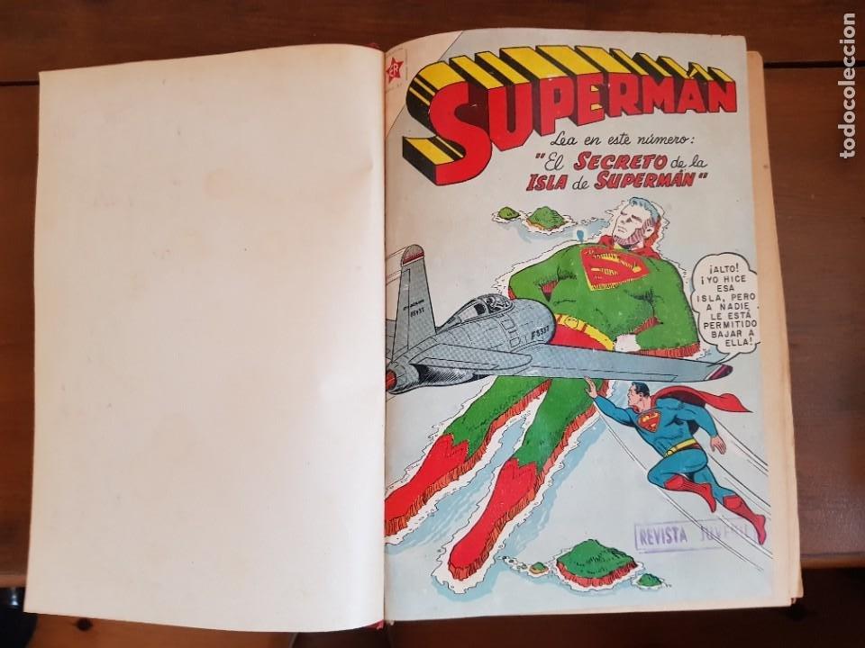 Tebeos: LOTE 20 TEBEOS/CÓMIC TOMO ORIGINAL SUPERMAN Y BATMAN TOMAJAUK NOVARO SEA (3) 1955-1959 ENCUADERNADO - Foto 4 - 219543097