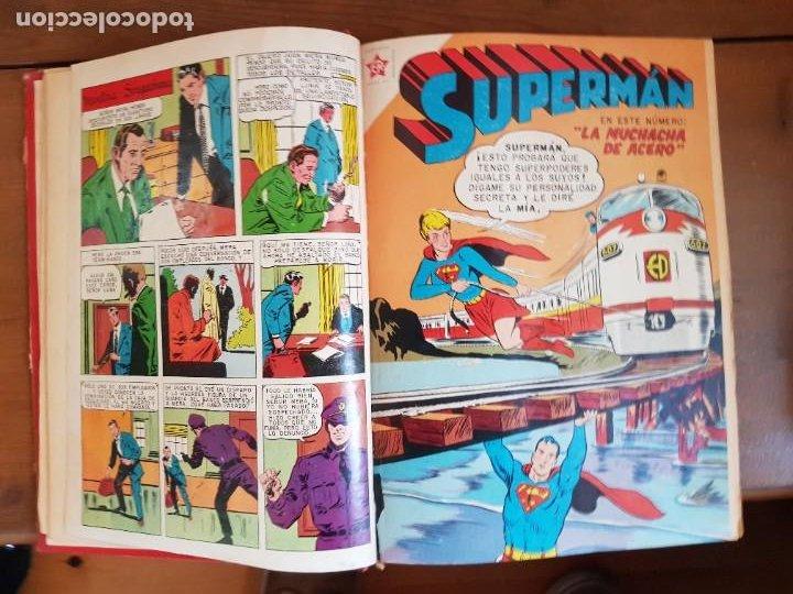 Tebeos: LOTE 20 TEBEOS/CÓMIC TOMO ORIGINAL SUPERMAN Y BATMAN TOMAJAUK NOVARO SEA (3) 1955-1959 ENCUADERNADO - Foto 5 - 219543097