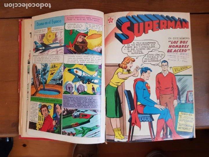 Tebeos: LOTE 20 TEBEOS/CÓMIC TOMO ORIGINAL SUPERMAN Y BATMAN TOMAJAUK NOVARO SEA (3) 1955-1959 ENCUADERNADO - Foto 6 - 219543097