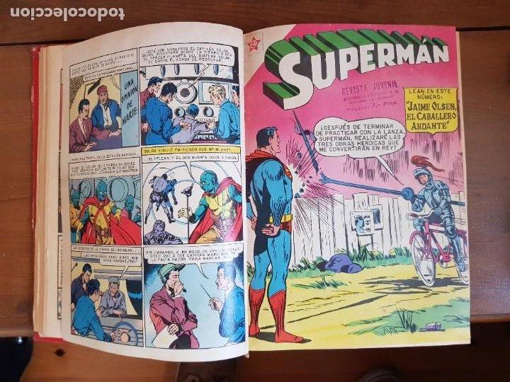 Tebeos: LOTE 20 TEBEOS/CÓMIC TOMO ORIGINAL SUPERMAN Y BATMAN TOMAJAUK NOVARO SEA (3) 1955-1959 ENCUADERNADO - Foto 7 - 219543097