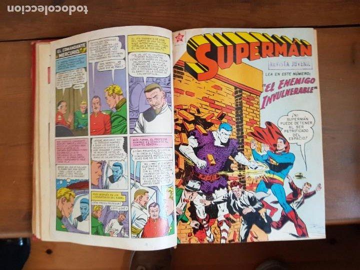Tebeos: LOTE 20 TEBEOS/CÓMIC TOMO ORIGINAL SUPERMAN Y BATMAN TOMAJAUK NOVARO SEA (3) 1955-1959 ENCUADERNADO - Foto 8 - 219543097