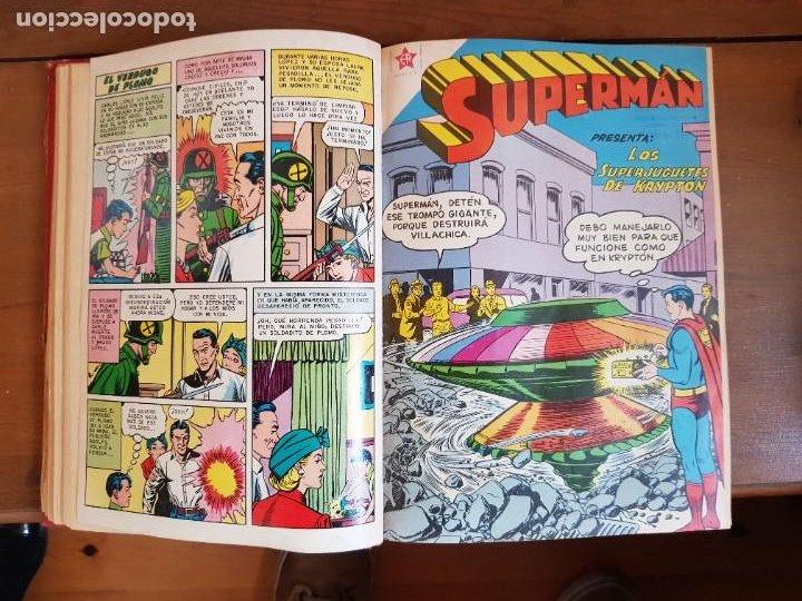 Tebeos: LOTE 20 TEBEOS/CÓMIC TOMO ORIGINAL SUPERMAN Y BATMAN TOMAJAUK NOVARO SEA (3) 1955-1959 ENCUADERNADO - Foto 9 - 219543097