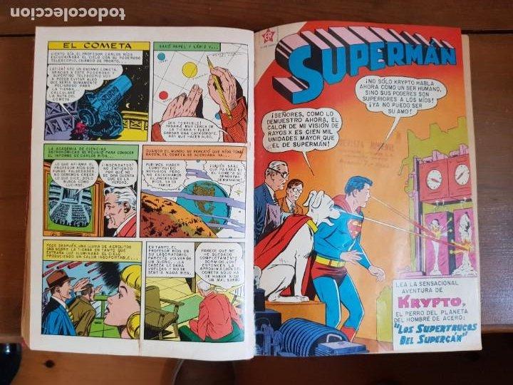 Tebeos: LOTE 20 TEBEOS/CÓMIC TOMO ORIGINAL SUPERMAN Y BATMAN TOMAJAUK NOVARO SEA (3) 1955-1959 ENCUADERNADO - Foto 11 - 219543097